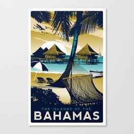 Bahamas Retro Vintage Style print Canvas Print