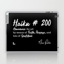 Abundance 2 - Haiku 200 - Milestone Collection - White Laptop & iPad Skin