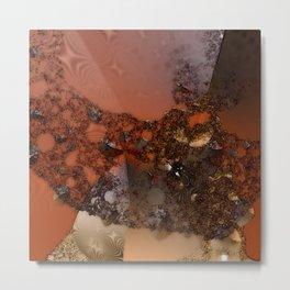 Study of textures and terra cotta Metal Print