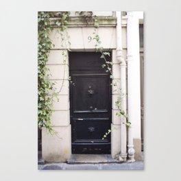 The Black Door at No. 9 Canvas Print