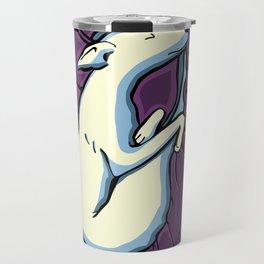 Sleeping Iggy Dog - Italian Greyhound - Whippet - Purple Travel Mug