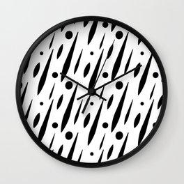 Splatter Burn B+W Wall Clock