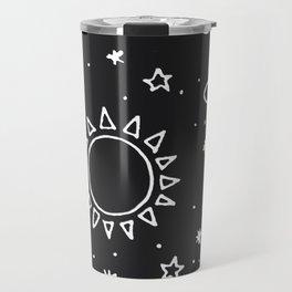 Planets Hand Drawn Travel Mug