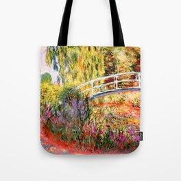 "Claude Monet ""Water lily pond, water irises"" Tote Bag"