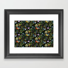 Jungle at night Framed Art Print