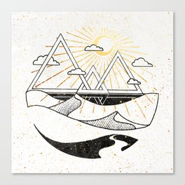 Triangle Dunes Inktober :: Destiny Laced Beneath The Deserts Canvas Print