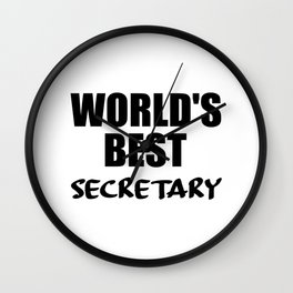 worlds best secretary funny quote Wall Clock