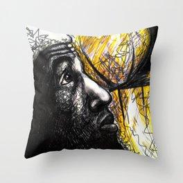 Basketballer LBJ Throw Pillow
