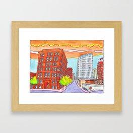 Kansas City Skyline III Framed Art Print