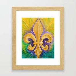 Mardi Gras Fleur de Lis Framed Art Print