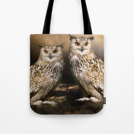 Two Owls Tote Bag