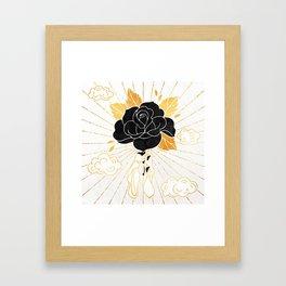 Black Rose Inktober :: Your Psyche Framed Art Print