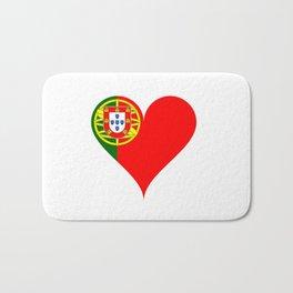 Portugal Heart Flag Bath Mat