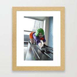 Femme Joker Cosplay - Askew Framed Art Print