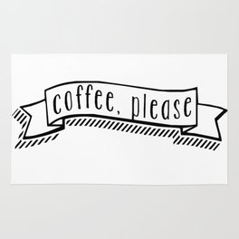 coffee, please Rug