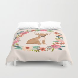 chihuahua floral wreath flowers dog breed gifts Duvet Cover