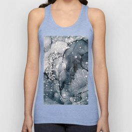 Icy Payne's Grey Abstract Bubble / Snow Painting Unisex Tank Top
