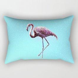 Lone Flamingo Rectangular Pillow
