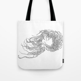 Hair in the Wind Tote Bag