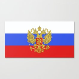 russian flag Canvas Print