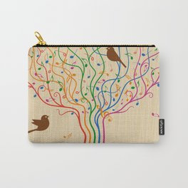 Retro Style Musical Notes Tree Carry-All Pouch