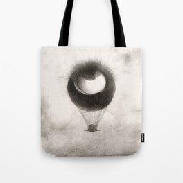 Olion Redon Eye Balloon Illustration Tote Bag