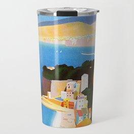Vintage Sorrento Italy Travel Ad Travel Mug