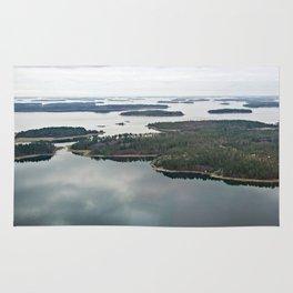 Late November archipelago Rug