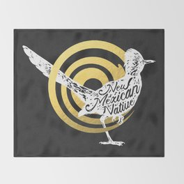 New Mexican Native Roadrunner Throw Blanket