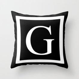 G monogram Throw Pillow