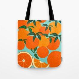 Orange Harvest - Blue Tote Bag