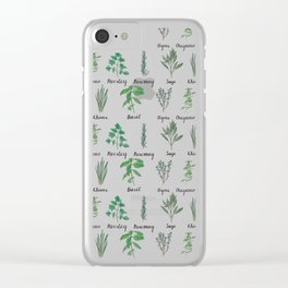 Herbs Clear iPhone Case