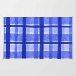 Tissue Paper Plaid - Blue Rug