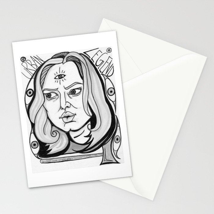 Final Girl: Natalie Simon from Urban Legend Stationery Cards
