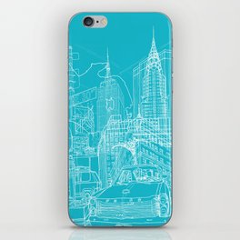 New York! Blueprint iPhone Skin