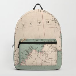 Vintage Topographic Map of Australia (1868) Backpack