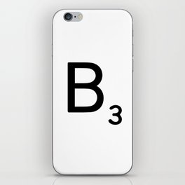 Letter B - Custom Scrabble Letter Wall Art - Scrabble B iPhone Skin