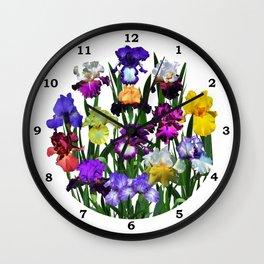 Iris garden Wall Clock