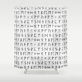 Runic Shower Curtains