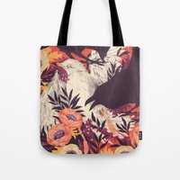 arya stark Tote Bags featuring Harbors & G ambits by Teagan White