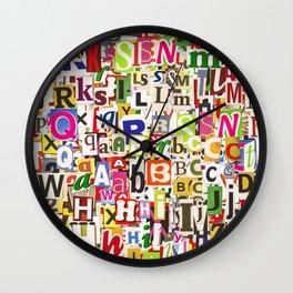 Ransom Note Wall Clock