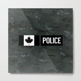Canadian Police: Black Camouflage Metal Print
