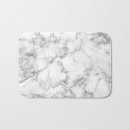 White Marble 003 Bath Mat
