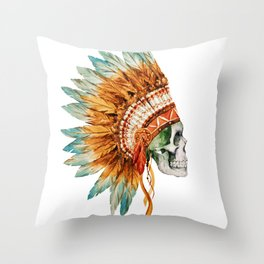 Skull 03 Throw Pillow
