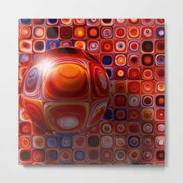 Tiles and Bubble-ations Metal Print