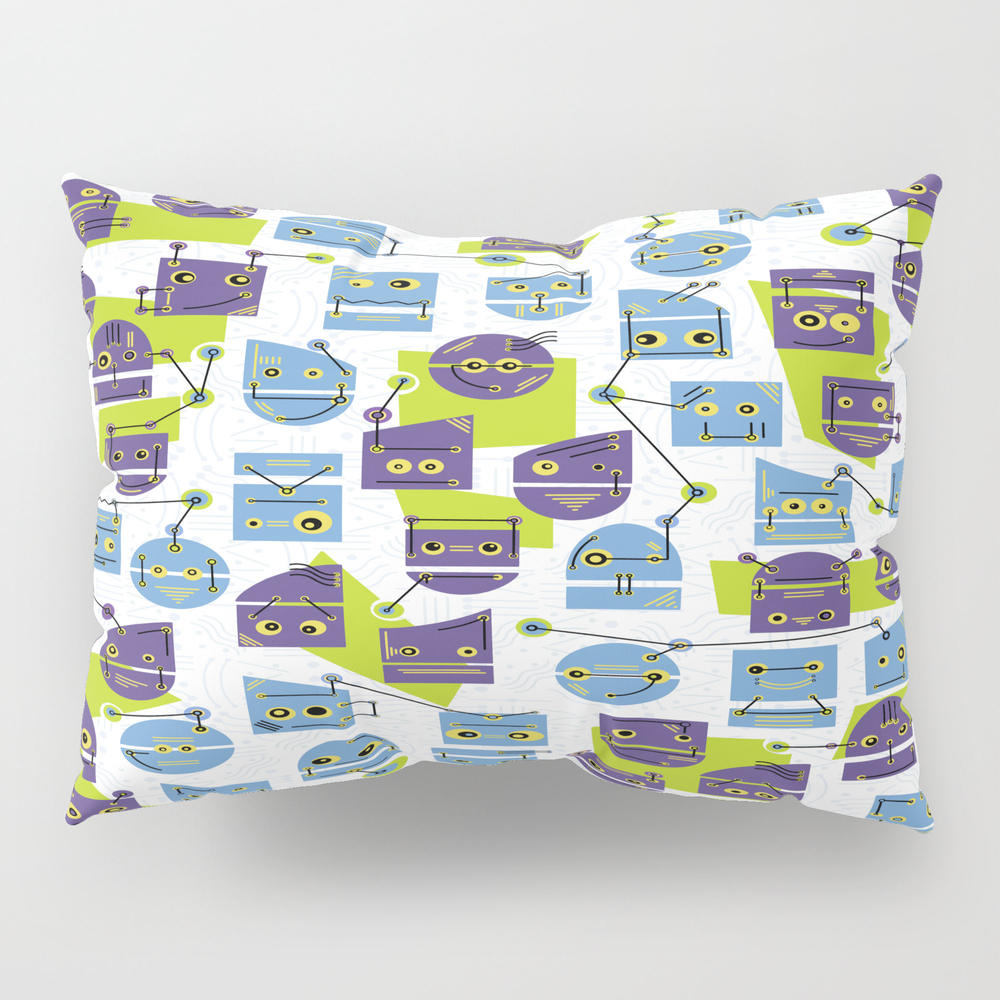 Robots Doodle Pillow Sham by Skuishy PSH8916092