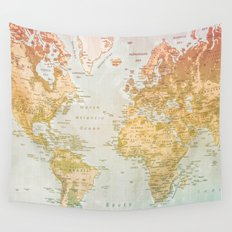 Pastel World Wall Tapestry