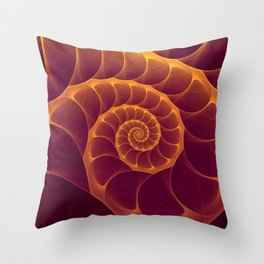 Infinity | Gold Burgundy Sea Shell Throw Pillow