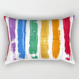 Rainbow Lipstick Stripes Rectangular Pillow