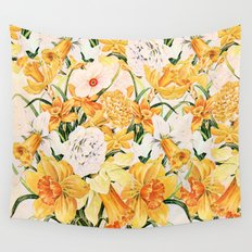 Wordsworth  and daffodils. Wall Tapestry